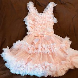 Pink ruffle dress! Super cutesy! Comfortable too!